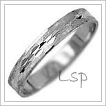 Snubní prsteny LSP 1438b bílé zlato