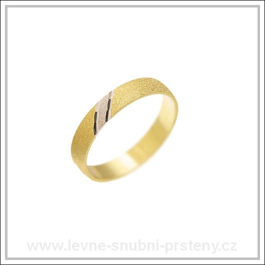 Snubní prsteny LSP 1440 kombinované zlato