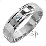 Snubní prsteny LSP 1441 bílé zlato