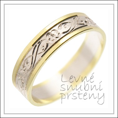 Snubní prsteny LSP 1443 kombinované zlato