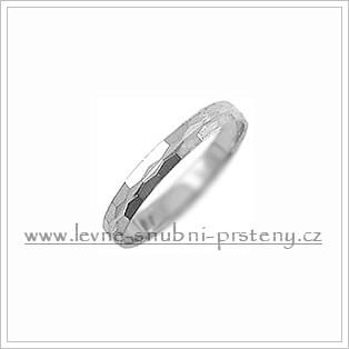 Snubní prsteny LSP 1446b bílé zlato