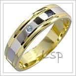 Snubní prsteny LSP 1447 kombinované zlato