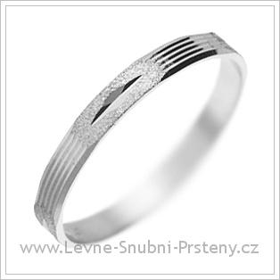Snubní prsteny LSP 1448 bílé zlato
