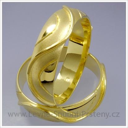 Snubní prsteny LSP 1449 žluté zlato