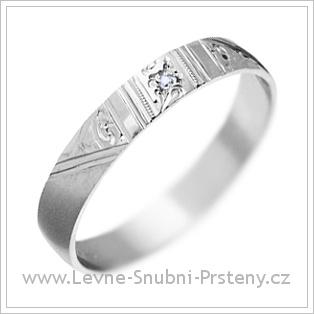 Snubní prsteny LSP 1451 bílé zlato