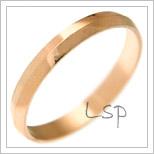 Snubní prsteny LSP 1452 červené zlato