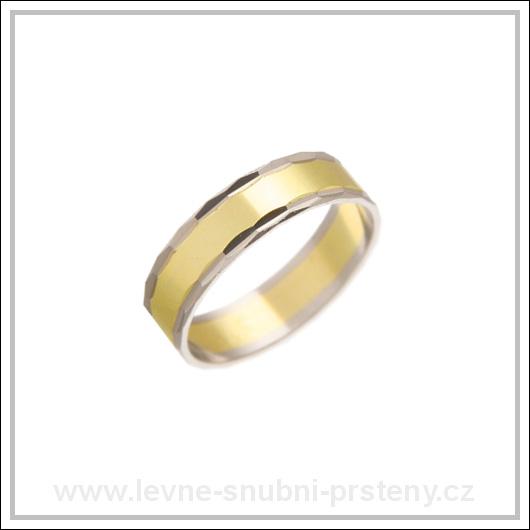 Snubní prsteny LSP 1455 kombinované zlato