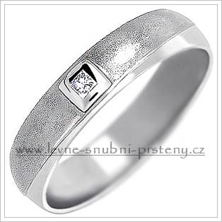 Snubní prsteny LSP 1457b bílé zlato