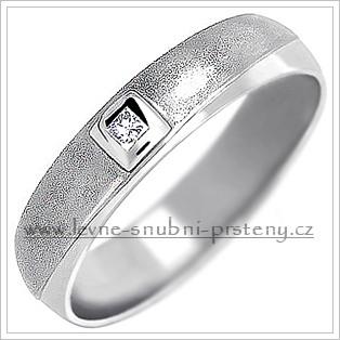 Snubní prsteny LSP 1457bz bílé zlato