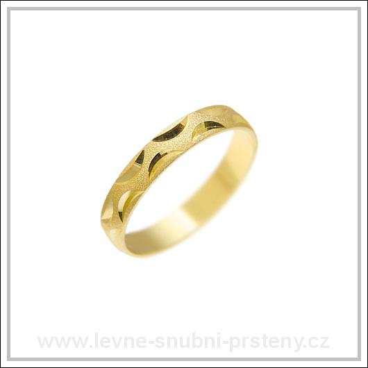 Snubní prsteny LSP 1458 žluté zlato