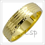 Snubní prsteny LSP 1463 žluté zlato