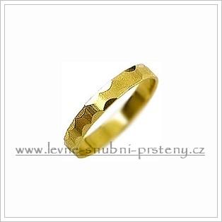 Snubní prsteny LSP 1464 žluté zlato