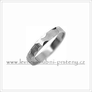 Snubní prsteny LSP 1464b bílé zlato