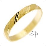 Snubní prsteny LSP 1466 žluté zlato