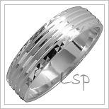 Snubní prsteny LSP 1467 bílé zlato