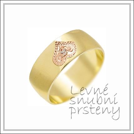 Snubní prsteny LSP 1468 žluté zlato