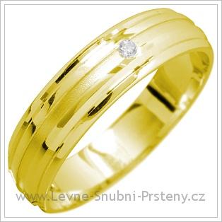 Snubní prsteny LSP 1470 žluté zlato