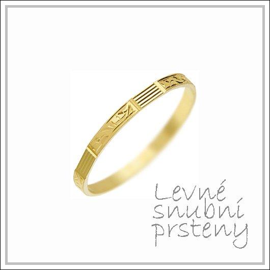 Snubní prsteny LSP 1472 žluté zlato