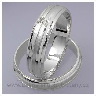 Snubní prsteny LSP 1476 bílé zlato