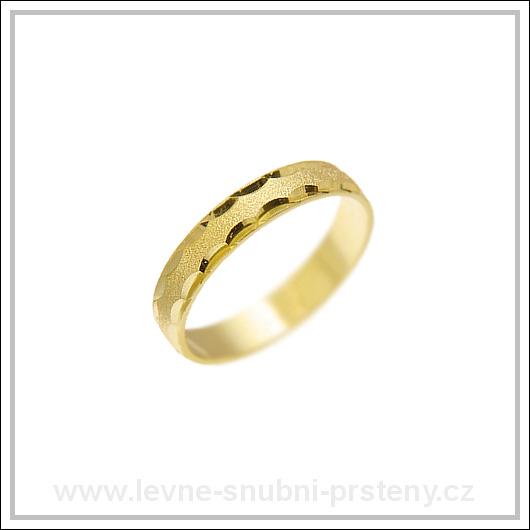 Snubní prsteny LSP 1477 žluté zlato