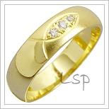 Snubní prsteny LSP 1478 žluté zlato