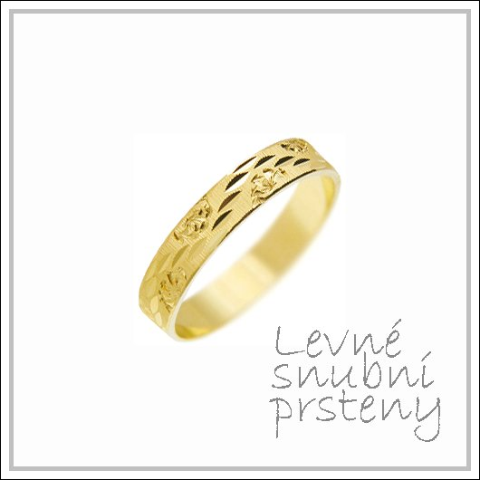 Snubní prsteny LSP 1480 žluté zlato
