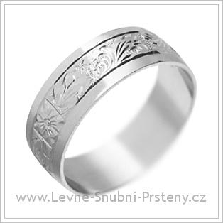 Snubní prsteny LSP 1481 bílé zlato