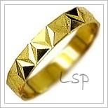 Snubní prsteny LSP 1482 žluté zlato
