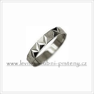 Snubní prsteny LSP 1482b bílé zlato