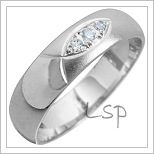 Snubní prsteny LSP 1483 bílé zlato