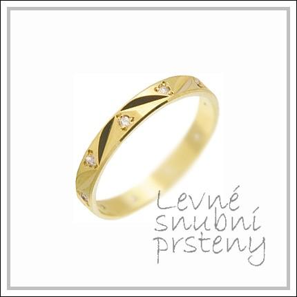 Snubní prsteny LSP 1485 žluté zlato