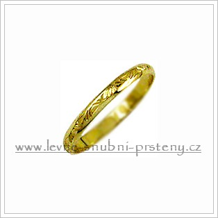 Snubní prsteny LSP 1486 žluté zlato