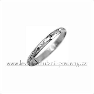 Snubní prsteny LSP 1486b bílé zlato