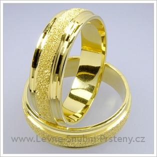 Snubní prsteny LSP 1489 žluté zlato