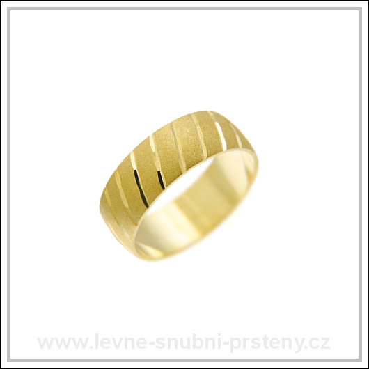 Snubní prsteny LSP 1491 žluté zlato