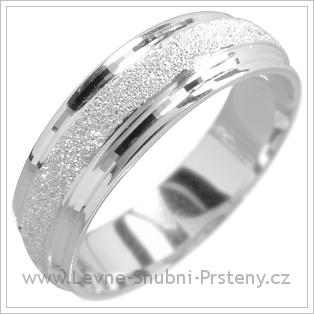 Snubní prsteny LSP 1492 bílé zlato
