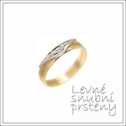 Snubní prsteny LSP 1494 kombinované zlato