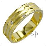 Snubní prsteny LSP 1495 žluté zlato
