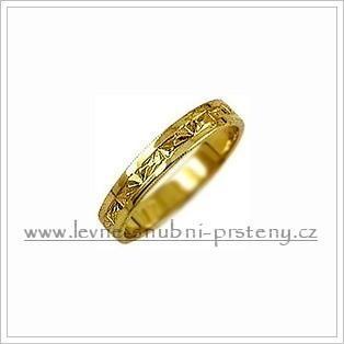 Snubní prsteny LSP 1496 žluté zlato