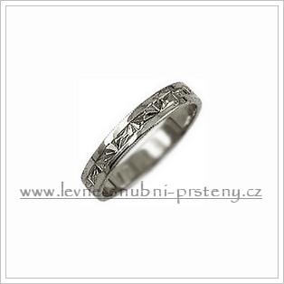 Snubní prsteny LSP 1496b bílé zlato