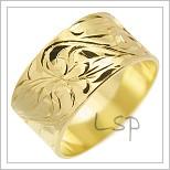 Snubní prsteny LSP 1497 žluté zlato