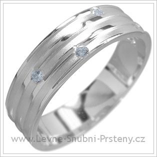 Snubní prsteny LSP 1498 bílé zlato