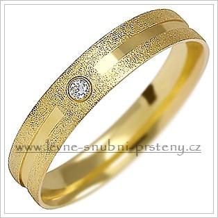 Snubní prsteny LSP 1499 žluté zlato s diamanty