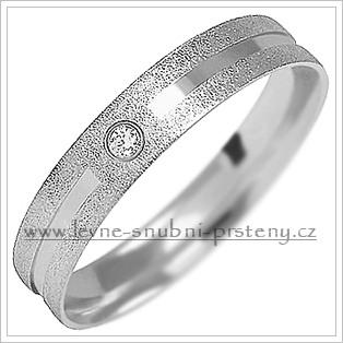 Snubní prsteny LSP 1499b bílé zlato