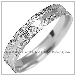 Snubní prsteny LSP 1499bz bílé zlato