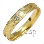 Snubní prsteny LSP 1499z žluté zlato se zirkony