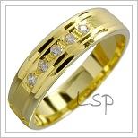 Snubní prsteny LSP 1501 žluté zlato
