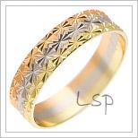 Snubní prsteny LSP 1502 kombinované zlato