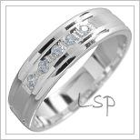 Snubní prsteny LSP 1503 bílé zlato