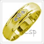 Snubní prsteny LSP 1505 žluté zlato